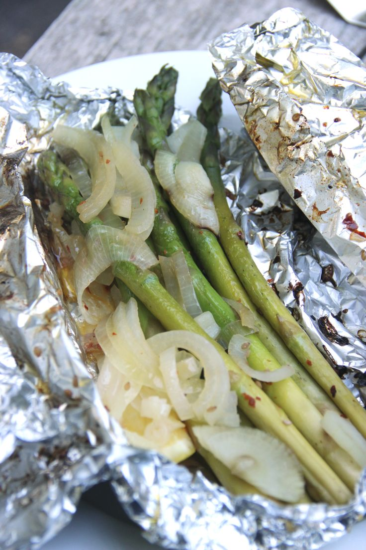 Asparagus from the grill - Asperges van de barbecue