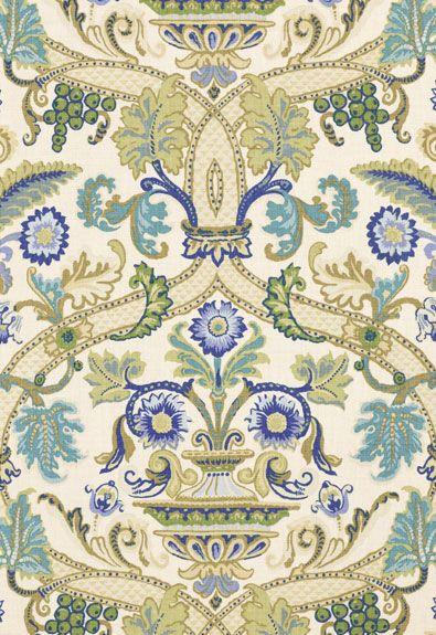 Fontenay Vase Schumacher Fabric: Schumacher Fontenay, Vase Schumacher, Pattern, Fontenay Vase, Blue, Wallpaper, Fabrics, Textile