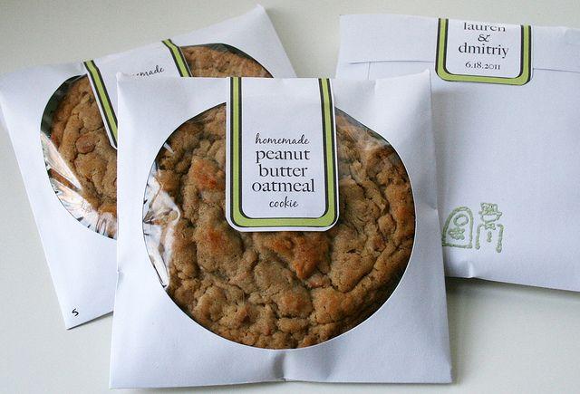 Cookie packaging using a CD sleeves.