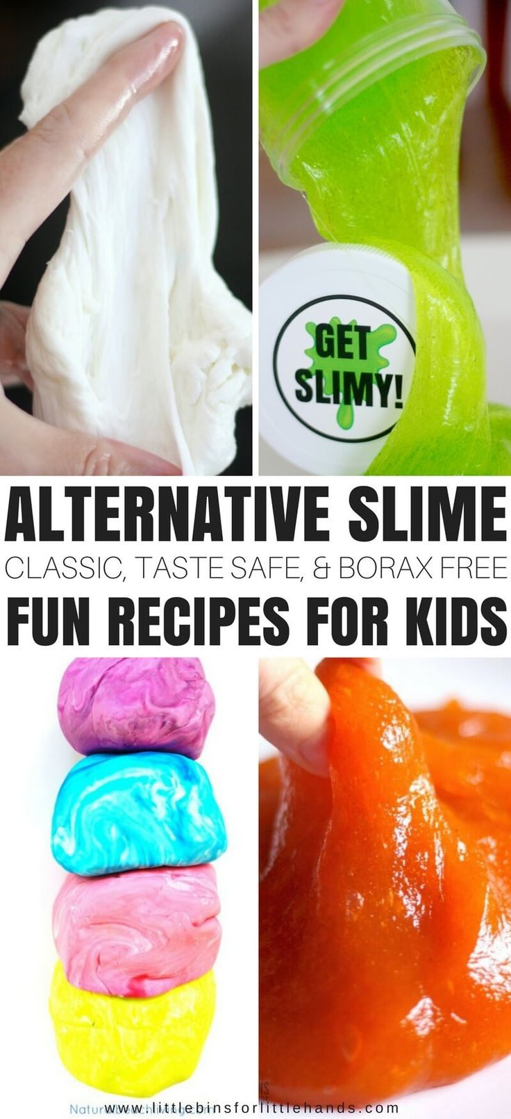 Slime is a must try project to try with the kids. We make lots of slime with our 4 basic homemade slime recipes.If you are having trouble finding the ingredients or need a different option, we have plenty of alternative slime recipes!Maybe you need a taste safe slime or a borax free slime, or you want a classic. Read on for more!
