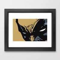 Framed Art Print featuring Wolverine by Chad Madden