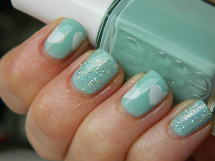 Best 25 mint nail designs ideas on pinterest nice nails 2014 spring nail trend mint nails prinsesfo Gallery