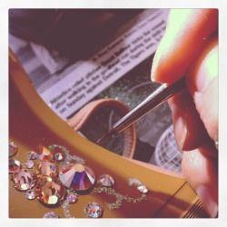 LABにて。タンゴダンサー京子さんのGEM SOLE製作中。Oct.24.2012