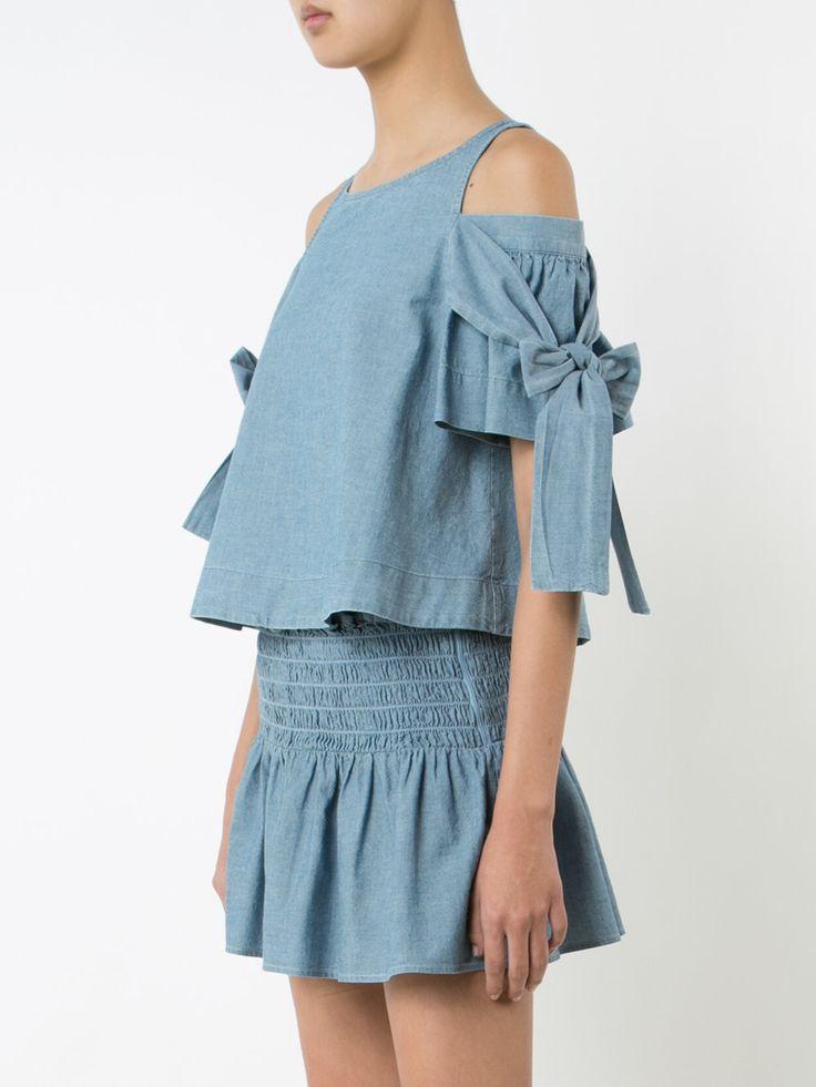 Sea блузка с открытыми плечами