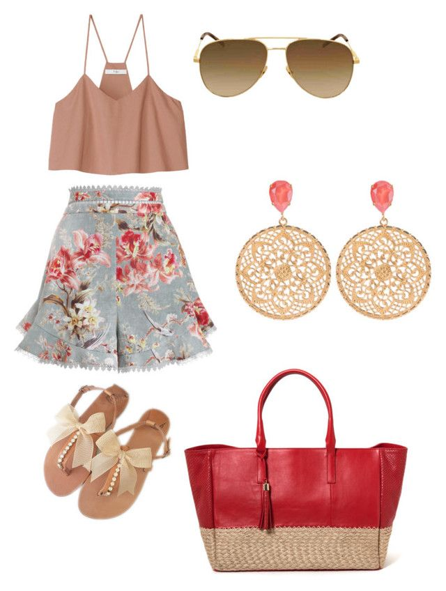 """""""Beach party"""" by lestariani on Polyvore featuring Zimmermann, TIBI and Yves Saint Laurent"""
