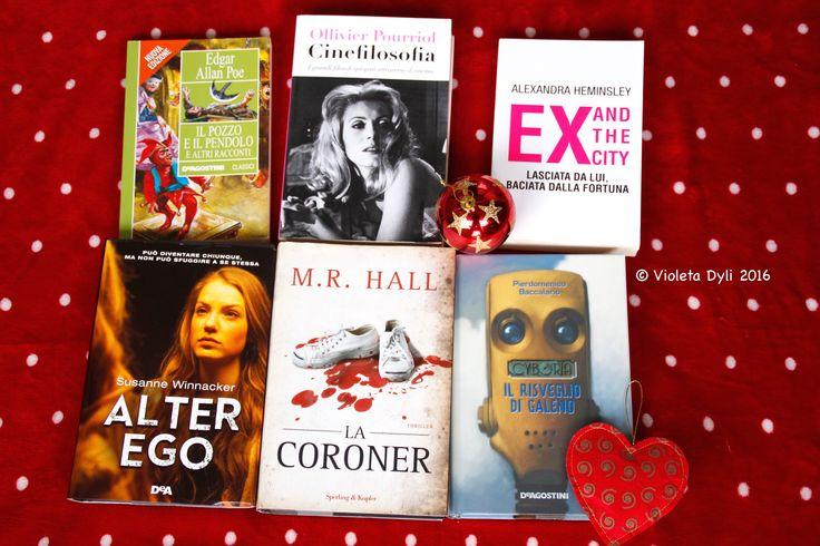 Libri che ho comprato  durante le vacanze di Natale 2016.