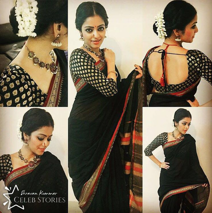 Most talented Actress of Tamil Industry Janani wearing our Handwoven Narayanpet…