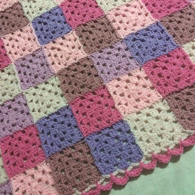 """#customorder #nofilter #crochet #crochetblanket #crochetbabyblanket #baby #blanket #grannysquare"""