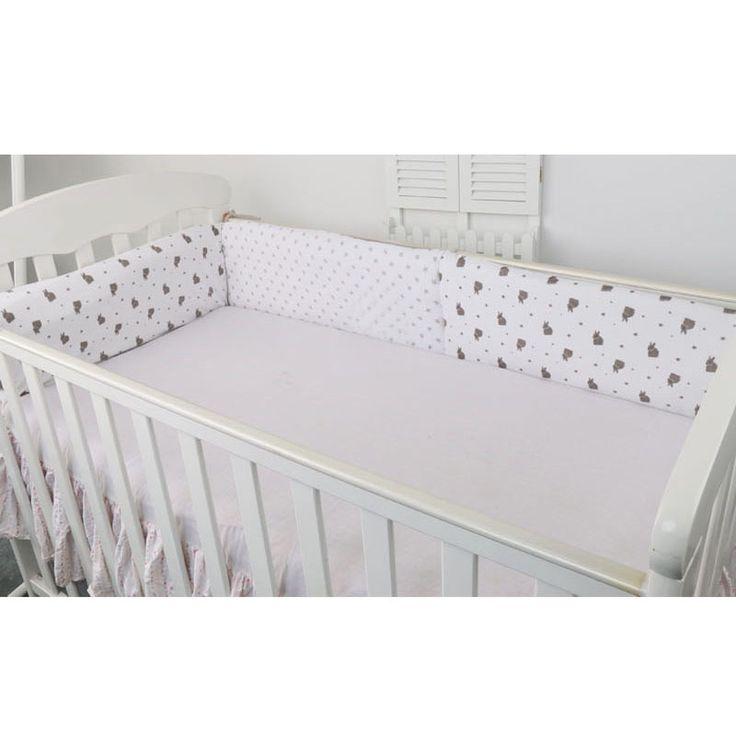Kids Crib Bumper Pad Baby Bed Bumper Pads Newborn Cot Bumper Pads Infant Crib Protector Comfy Baby Cot Bedding Set 180*40CM