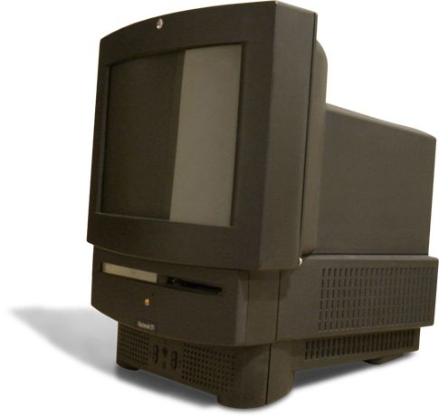 I HAVE ONE !  1993 Macintosh TV.  It came in a black LC 520-style case. t came with a cable-ready TV tuner card, and included a CD-ROM drive. Only 10,000 Mac TVs were made before it was discontinued.
