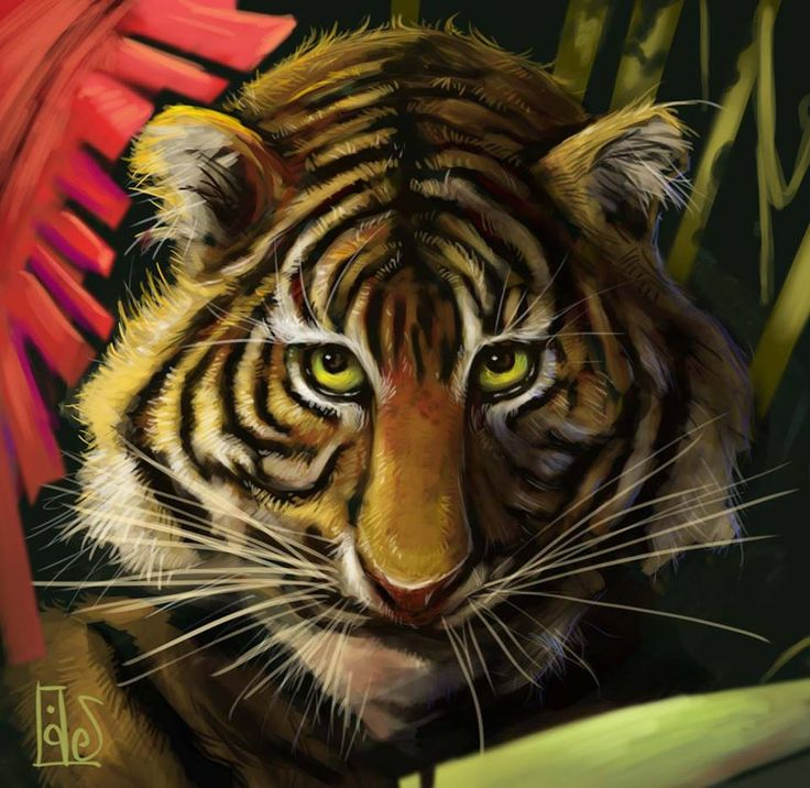 """Tiger! Tiger! burning bright In the forests of the night,  What immortal hand or eye Dare frame thy fearful symmetry?"""