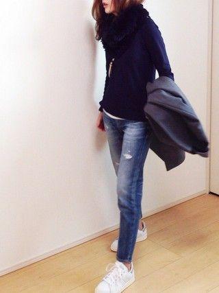 mayumiさんの「◆[アディダス]adidas STAN SMITH スニーカー(adidas|アディダス)」を使ったコーディネート