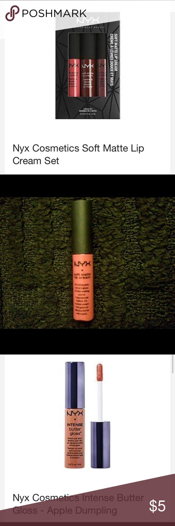 NYX DUO NYX soft matte lip cream #08(deep pink)NYX butter gloss #11 maple blonde NEVER USED NYX Makeup Lip Balm & Gloss