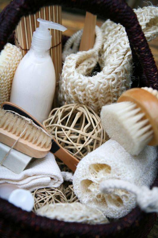 Spa Basket great for exfoliating the skin and getting the circulation moving.