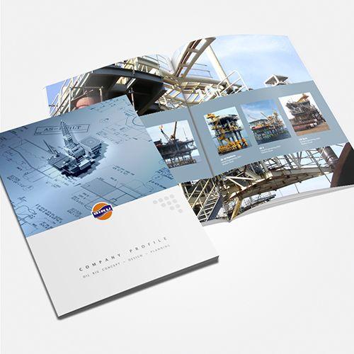 Oil Rig Company Profile design by SIGNIFICAN significan-design.com