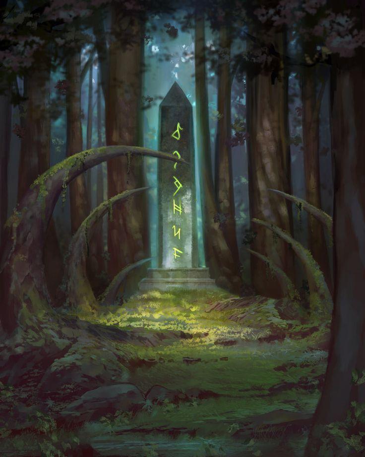 Image result for stone shrine concept art
