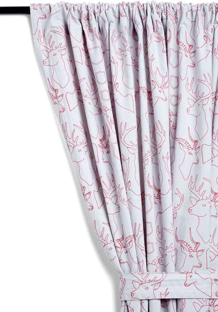 Contemporary Cabin Curtain. For a colorful accent to your wooden-walled home, slip this deer-printed curtain, available for purchase exclusively at ModCloth, onto your curtain rod, and drape it delicately over your window! #multi #modcloth
