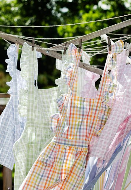 Laundry Day...we always hung our laundry on the line...I love those memories.