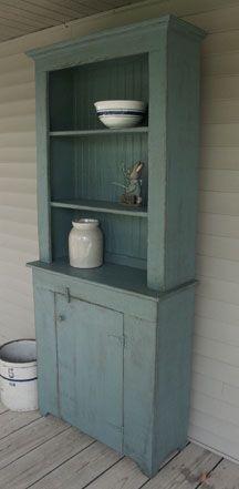 Primitive Furniture Patterns | Details about Primitive Old Set Back Cupboard Pattern Plan
