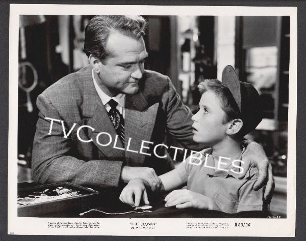 8x10 Photo~ THE CLOWN ~1960 ~Red Skelton ~child actor Tim Considine ~1611-39