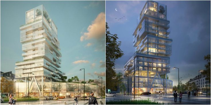 Luminous, Transparent Mixed Use Tower Will Mark the Skyline of Saint-Malo, France