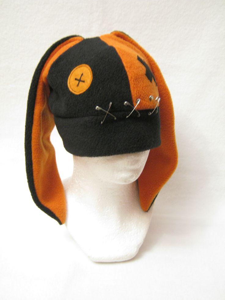 Orange/Black Bunny  @plushworkshop