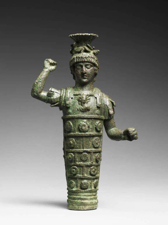 Jupiter Héliopolitain  2e siècle ap. J.-C.  Région de Tartous (Syrie). culte syncrétique romain,araméen, égyptomanie. Jupiter, accompagné de Vénus et Mercure, y acquiert un caractère omnipotent,