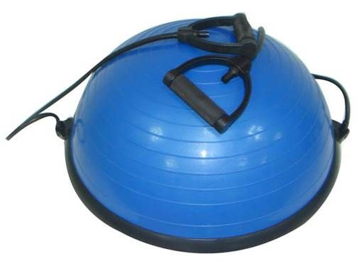 Bosu Air Stepper is a mixture of the standard Bosu ball with a resistance band with handles which are tied to the sides of the Bosu. Bosu Air Stepper can be used with stepping or as a normal Bosu when exercising. Bosu Air Stepper can be used to integrate balance into all aspects of training, so all the Agility, strength and crossfit workouts utilize these balls, while Yoga, Aerobics and Pilates purchase this as a must have accessory.  Bosu Air Stepper is a multi-dimensional training tool…