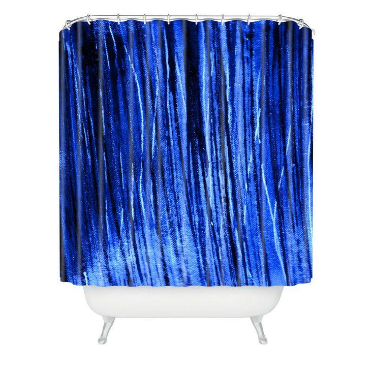 Sophia Buddenhagen Bright Blue Shower Curtain | DENY Designs Home Accessories