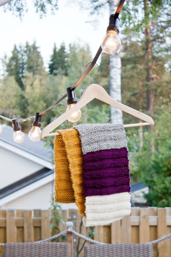 KNITTED TUBE SCARF ~ NO HOME WITHOUT YOU