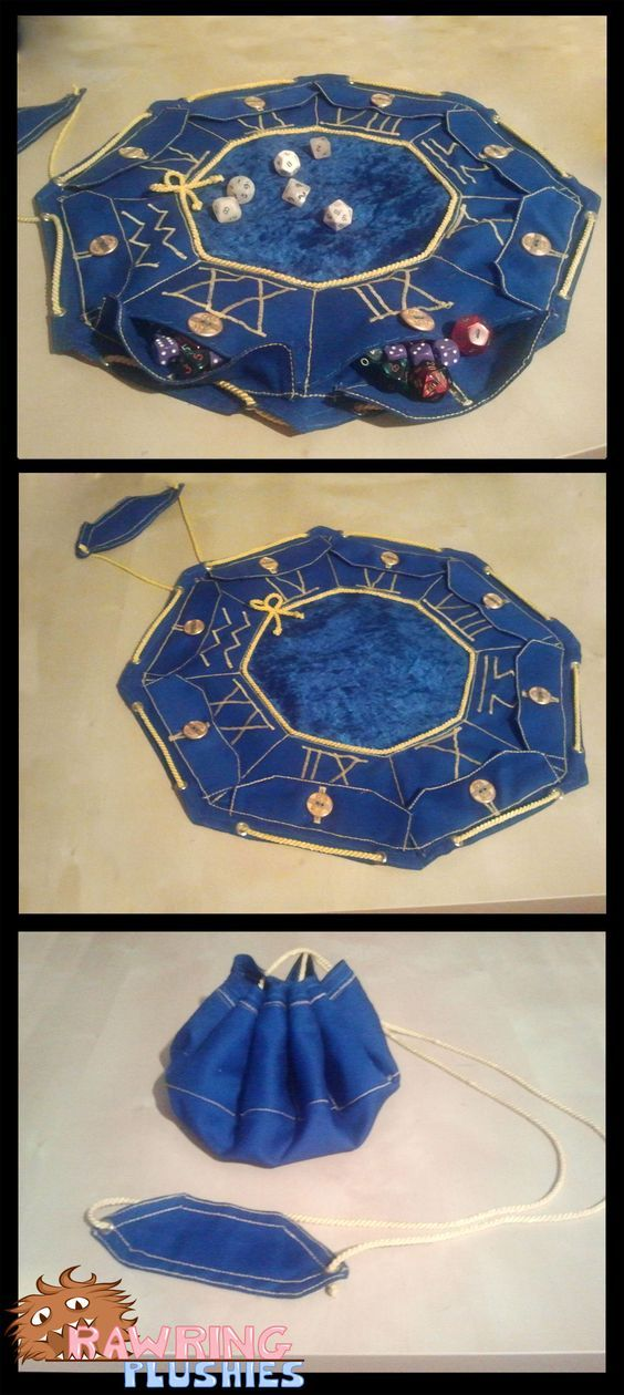 "d20-darling: "" The most epic dice bag I've ever seen, hands down. """