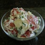 ... radishes creamy potato salad with red potato salad with scallions