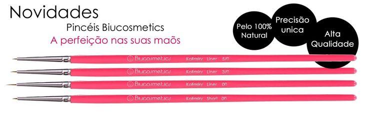 Os melhores pincéis do Mercado! para si , pelo 100% Natural qualidade Made in Germany! http://biucosmetics.com/pincel-nail-art-kolinsky-short-00.h… http://biucosmetics.com/pinceis-nail-art-kolinshy-liner.html Do tamanho 5/0(mais pequeno) ao 00!