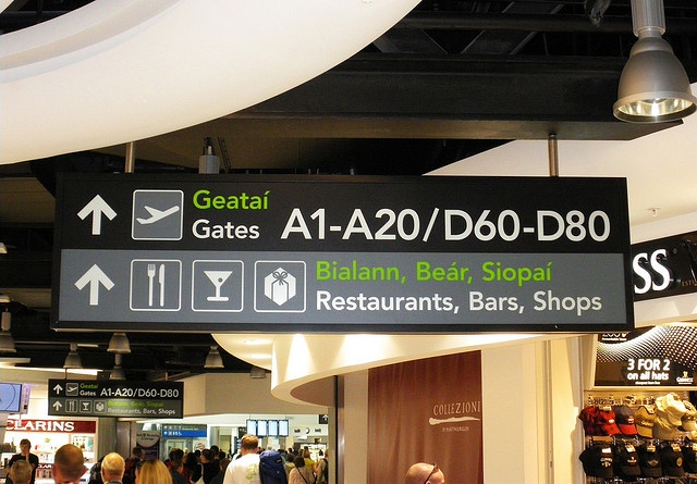 Dublin Airport Sign by Wayfinding UK, via Flickr