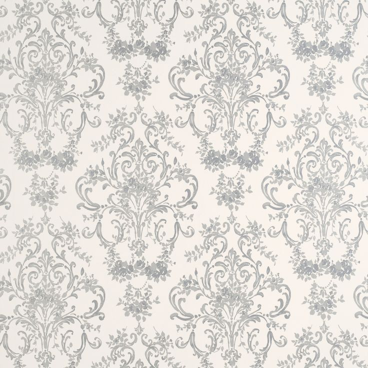 £38.00 - Laura Ashley - Aston Silver Patterned Wallpaper