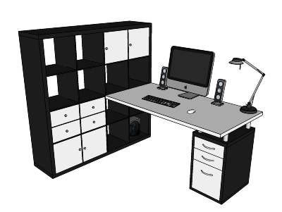 Tomorrow is DESK DAY. I am also going to have an Expedit desk and find this concept useful.