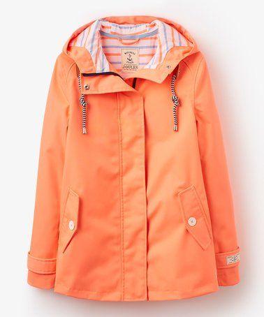 Loving this Fluorescent Orange Coast Hooded Jacket - Women on #zulily! #zulilyfinds