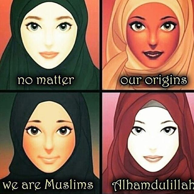 Regardless of  race profession age or gender We are One Ummah    #unity #racism #equality