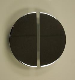 contemporary door handles, art deco door handles, half moon door handles