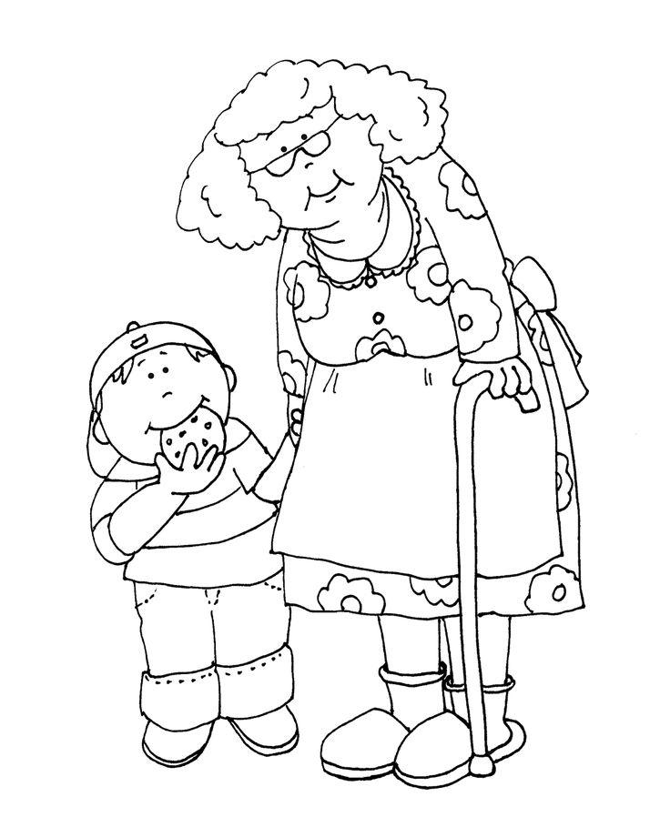 Картинки с днем рождения бабушке от внучки раскраска