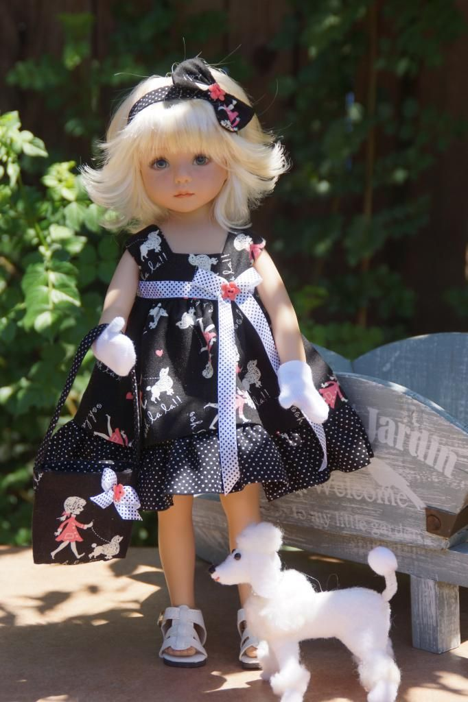 *Paris Poodle* by Ladybug Doll Desigs. Sold for $41.00 on 8/31/13: