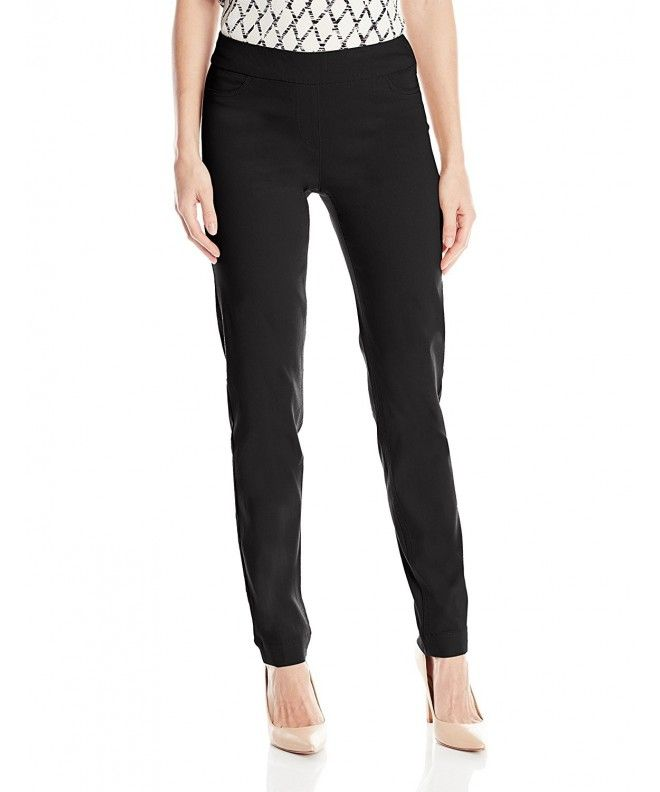 72c2f77ee471 Women's Wide Band Pull-on Straight Leg Pant With Tummy Control - Black -  C611M2I9J0R,Women's Clothing, Pants #Pants #fashion #style #Pants