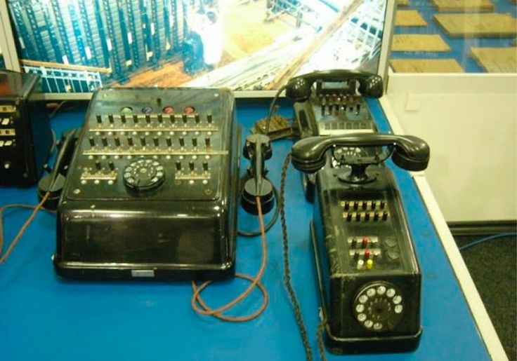 Russian Cold War Phones; A photo taken by Doctor Soul inside a Russian vintage technology museum