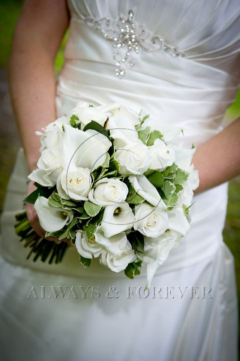 ivory cala lily and rose handtied brides wedding bouquet www.flowerartbycatrin.com llanelli wales florist