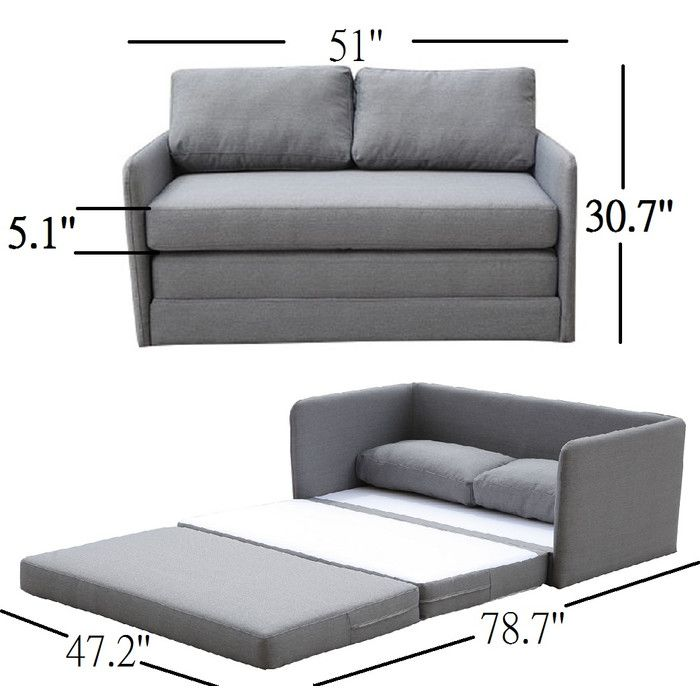 Sabastian Reversible Sleeper In 2019 Sofa Couch Bed