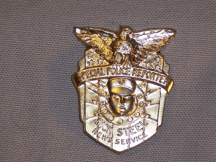 1934 Dick Steel News Service Special Police Reporter Badge Pin Radio Premium | eBay