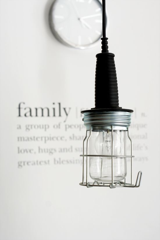 """♥ - love the """"family"""" definition on the wall!"""
