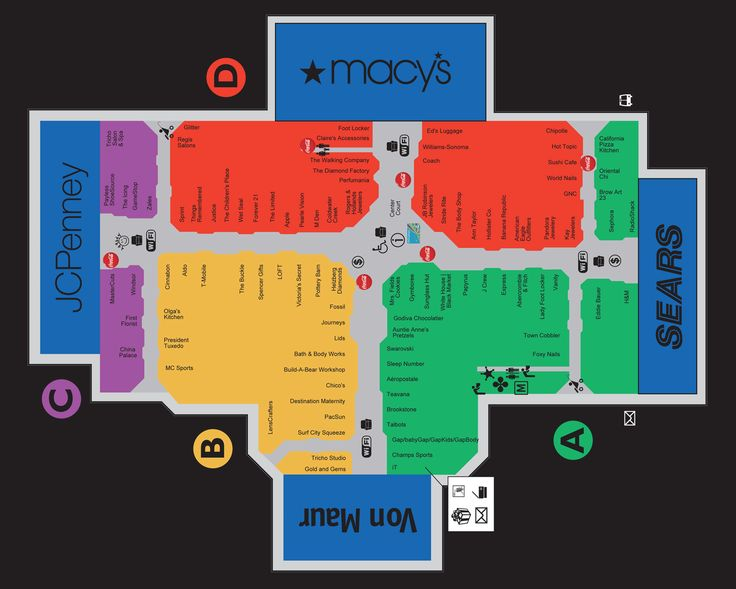 Edison Mall Map