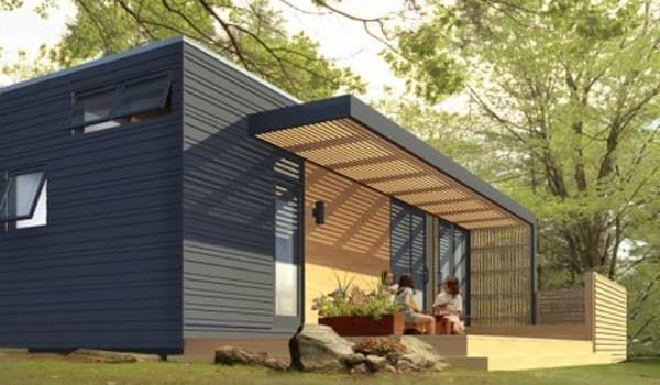 Modelo Solo36 de vivienda prefabricada con amplias características ecológicas. Planos de planta, materiales y opciones para convertirla en casa autosuficiente.