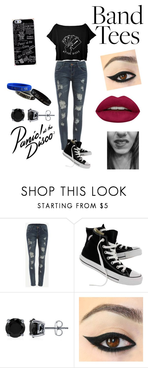 """My Panic! At The Disco Outfit"" by karibear15 ❤ liked on Polyvore featuring Converse, BERRICLE and Huda Beauty"